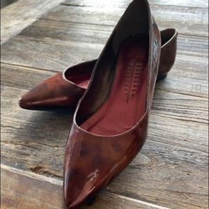 Shoes - Brown patent flats